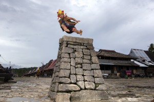 Stone jumping