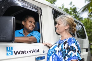 Karen WaterAid truck