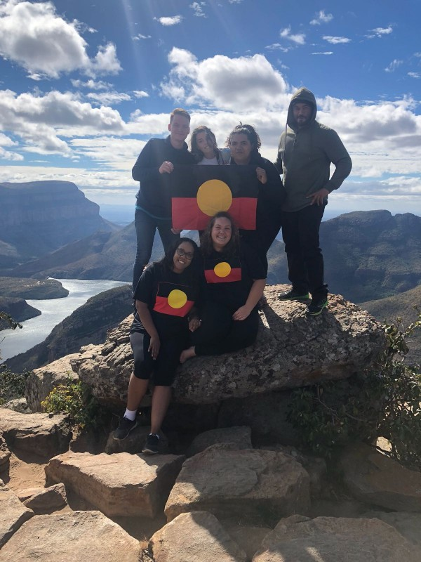 The Classic Wallabies Indigenous Exchange cohort of 2018 in the Drakensberg South Africa