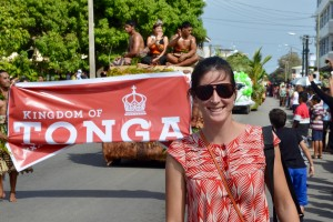 Australian volunteer Madeleine Legge in Tonga